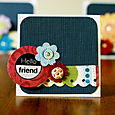 """hello friend"" card by Kathy Thompson Laffoley"