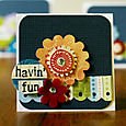 """havin fun"" card by Kathy Thompson Laffoley"
