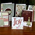 Winter cards by Kathy Thompson Laffoley published in Canadian Scrapbooker Magazine Winter 2008