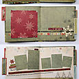 "Holiday mini album kit ""scrapbooked"" by Vicki Boutin"