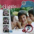 """Giggle"" by Kelly Panacci (featured in Canadian Scrapbooker magazine)"