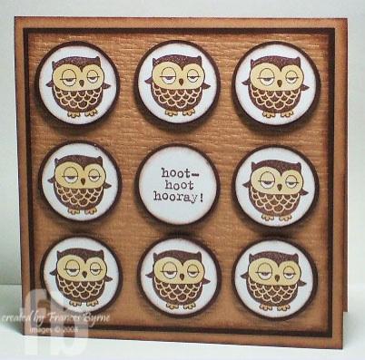 Owl card by Frances Byrne