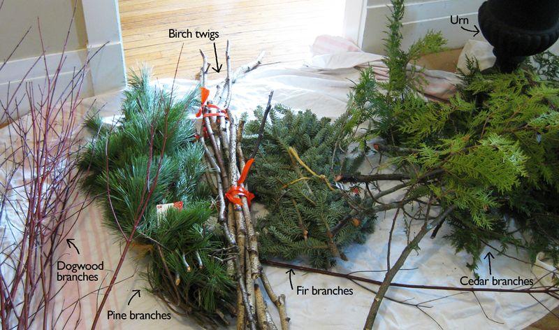 Christmas Urn ingredients