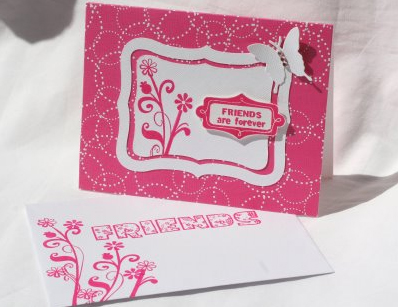 Friends crd & envelope-Melanie
