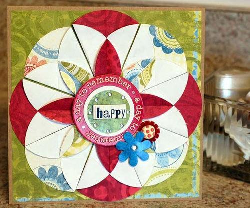 """""""happy"""" card by Judi Van Valkinburgh"""