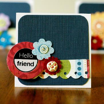 """""""hello friend"""" card by Kathy Thompson Laffoley"""