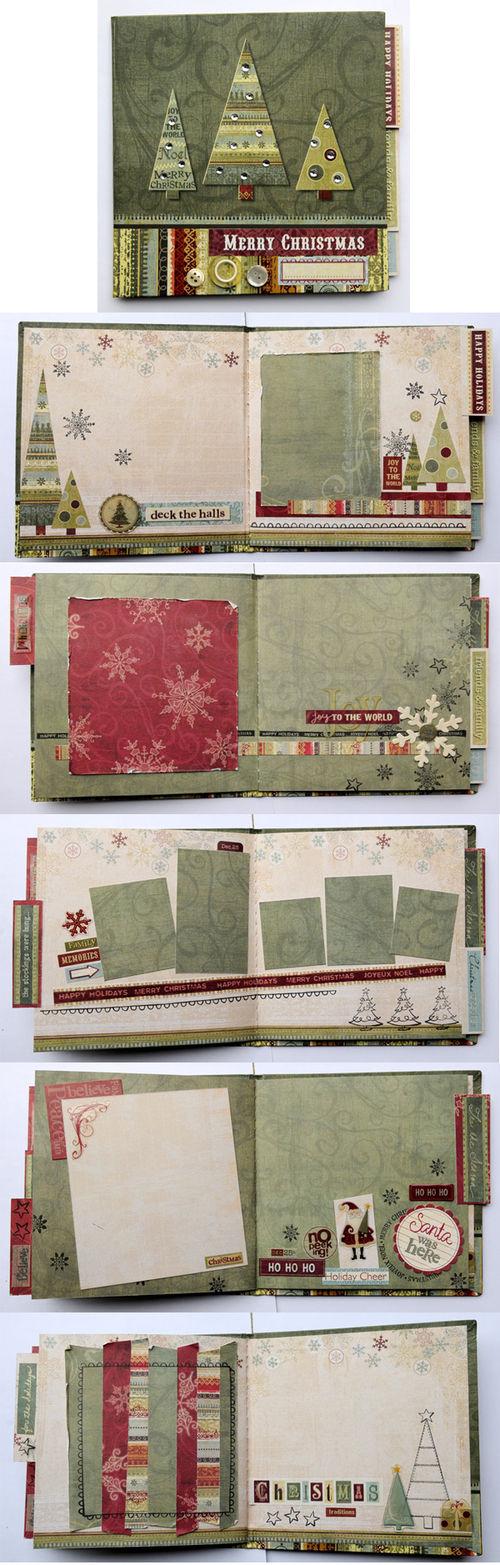 "Holiday mini album kit ""scrapbooked"" by Vicki Boutin"